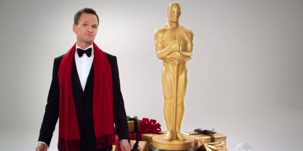 Neil Patrick Harris with his new friend, Oscar