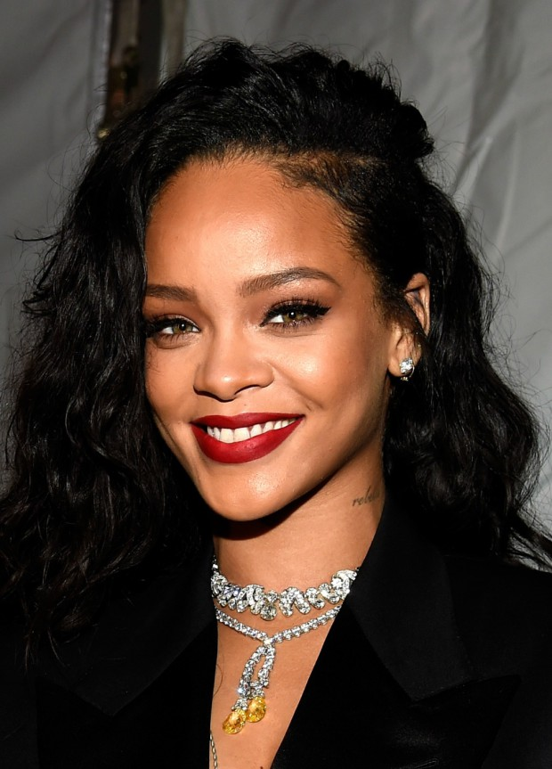 Rihanna attends DirecTV Super Saturday Night hosted by Mark Cuban's AXS TV and Pro Football Hall of Famer Michael Strahan at Pendergast Family Farm on January 31, 2015 in Glendale, Arizona. (Photo by Kevin Mazur/Getty Images for DirecTV via Image.net)