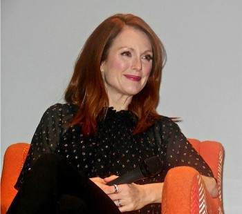 """Julianne Moore at the """"Seventh Son"""" press conference   Paula Schwartz Photo"""