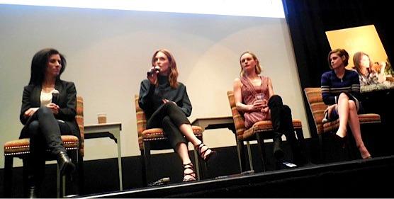 """Still Alice"" writer TK, Julianne Moore, Kate Bosworth and Kristen Stewart   Paula Schwartz Photo"