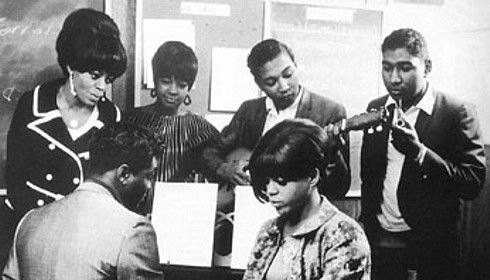 The Supremes with the songwriting team of Holland-Dozier-Holland