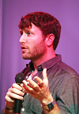 "Matthew Heineman talks about ""Cartel Land"" at the True/False Film Festival 2015   Melanie Votaw Photo"