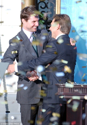 Tom Cruise with current Scientology leader David Miscavige
