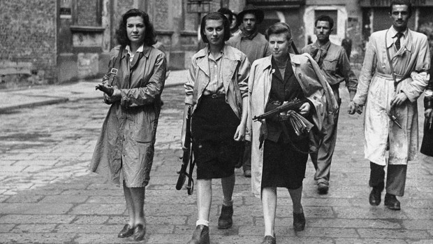 """A still from """"My Italian Secret"""" showing the Youth Front anti-Fascist group."""