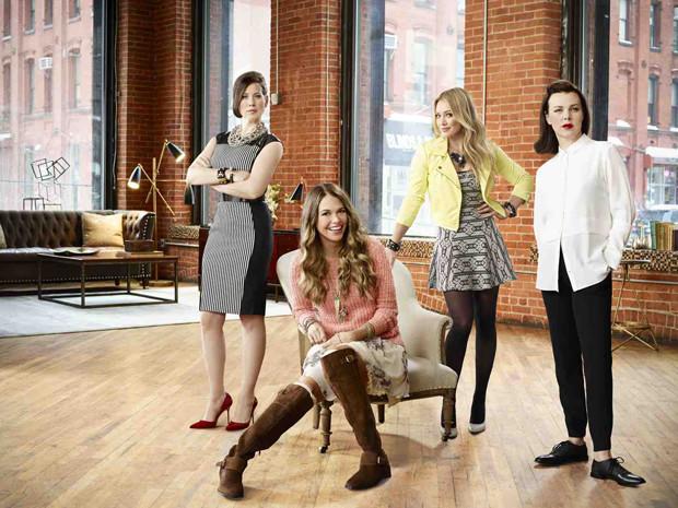"The four key women of ""Younger"" - Miriam Shor, Sutton Foster, Hillary Duff, and Debi Mazar"