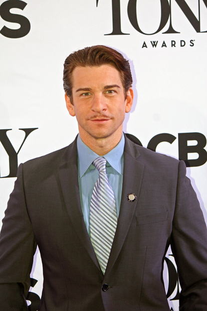"Andy Karl at the Tony Awards nominee reception after he was nominated for his hilarious performance in ""On the Twentieth Century"" 
