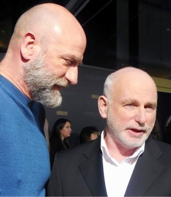 """Graham McTavish and Gary Lewis at the """"Outlander"""" midseason premiere in Manhattan   Paula Schwartz Photo"""