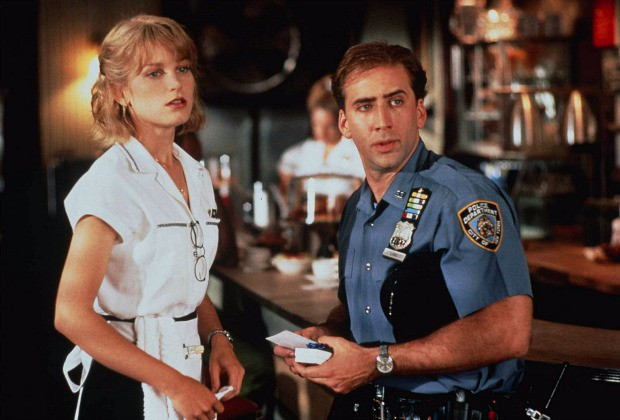 "Bridget Fonda and Nicolas Cage in ""It Could Happen To You"" 