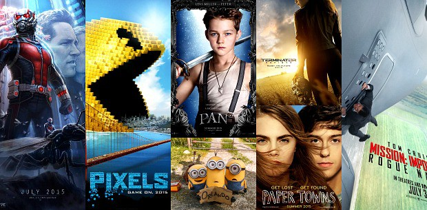 July 2015 Movies Collage