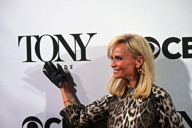"Kristin Chenoweth, who is nominated for ""On the Twentieth Century,"" jokes around on the red carpet | Melanie Votaw Photo"