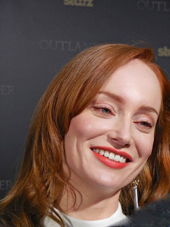 "Lotte Verbeek at the ""Outlander"" midseason premiere in Manhattan   Paula Schwartz Photo"