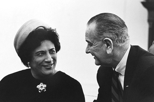 Constance Baker Motley with President Lyndon B. Johnson