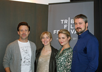 Jason Sudeikis, Desiree, Dianna Agron, and Sean Mewlew at the Tribeca Film Festival | Melanie Votaw Photo