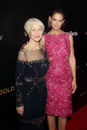 """Helen Mirren and Katie Holmes attend the """"Woman in Gold"""" premiere in New York City 