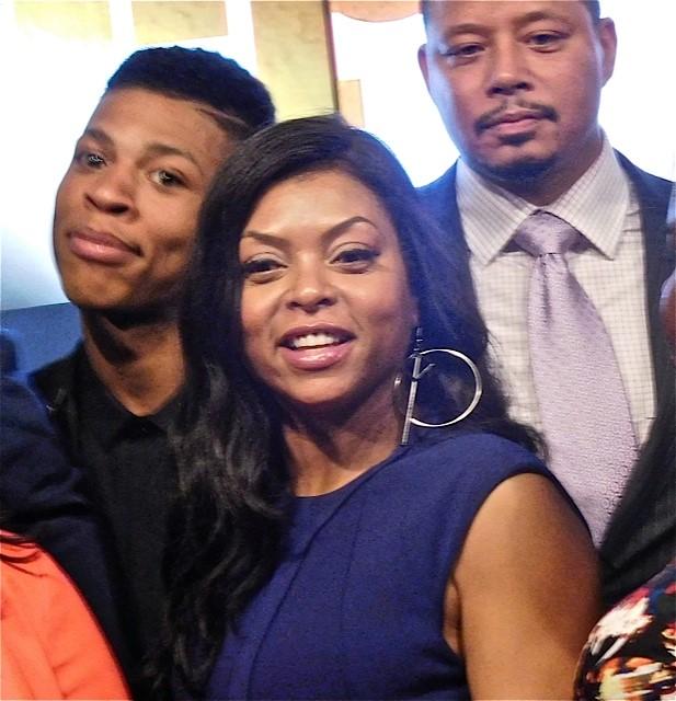 Empire's Bryshere Gray, Taraji Hensen and Terrence Howard at the 2015 Fox Upfront | Paula Schwartz Photo