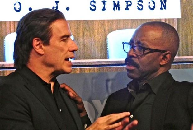 John Travolta and Courtney B. Vance at the 2015 Fox Upfront | Paula Schwartz Photo