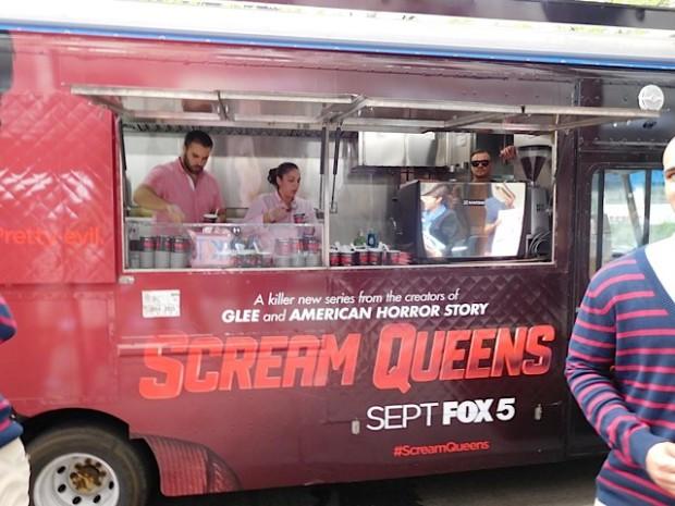 """Scream Queens"" Ice Cream Truck at the 2015 Fox Upfront | Paula Schwartz Photo"