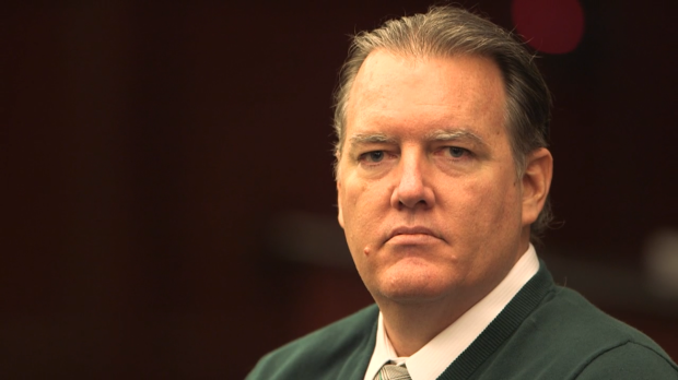 """Defendant Michael Dunn in a courtroom still from """"3 1/2 Minutes, 10 Bullets"""""""