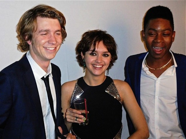 """Thomas Mann, Olivia Cooke and R.J. Cyler at the New York premiere of """"Me and Earl and the Dying Girl"""" 