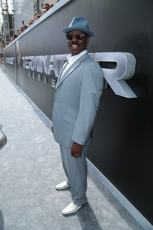 """Courtney B. Vance arrives as Paramount Pictures presents the Los Angeles premiere of """"Terminator Genisys"""" at the Dolby Theatre in Los Angeles, California on Sunday, June 28, 2015. (Photo: Alex J. Berliner/ABImages)"""