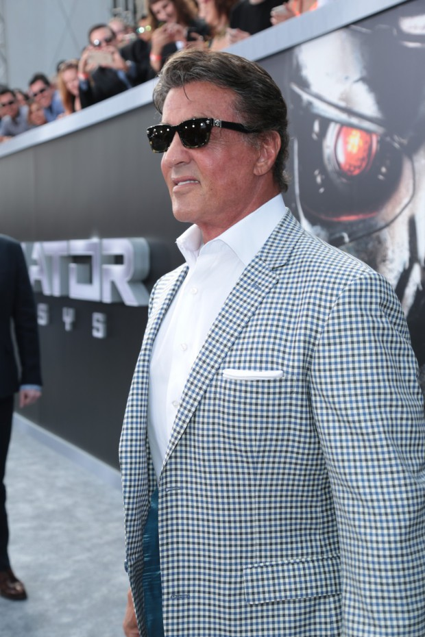 """Sylvester Stallone arrives as Paramount Pictures presents the Los Angeles premiere of """"Terminator Genisys"""" at the Dolby Theatre in Los Angeles, California on Sunday, June 28, 2015. (Photo: Alex J. Berliner/ABImages)"""