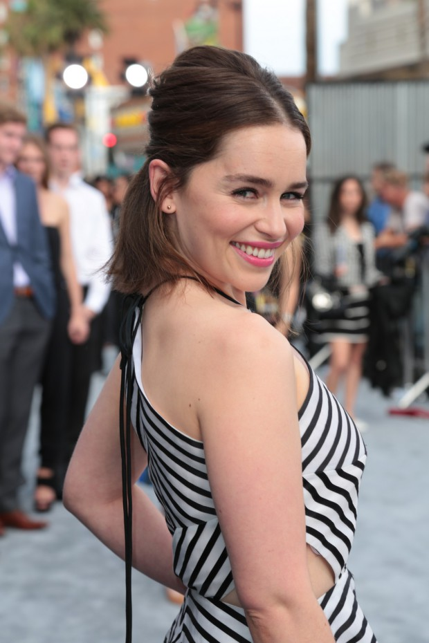 """Emilia Clarke arrives as Paramount Pictures presents the Los Angeles premiere of """"Terminator Genisys"""" at the Dolby Theatre in Los Angeles, California on Sunday, June 28, 2015. (Photo: Alex J. Berliner/ABImages)"""