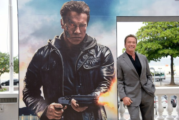 RIO DE JANEIRO, BRAZIL – JUNE 1: Arnold Schwarzenegger attends the photocall for Paramount Pictures 'Terminator Genisys' at the Copacabana Palace Hotel on June 1, 2015 in Rio de Janeiro, Brazil. (Photo by Raphael Dias/Getty Images for Paramount Pictures International)