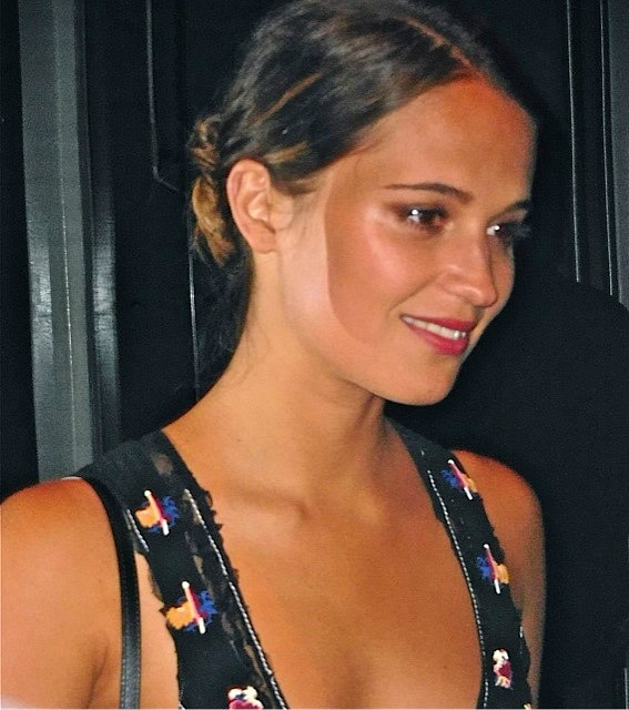 "Actress Alicia Vikander at a press event for ""Testament of Youth"" 