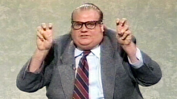 "Chris Farley in a ""Saturday Night Live"" clip from ""I Am Chris Farley."""