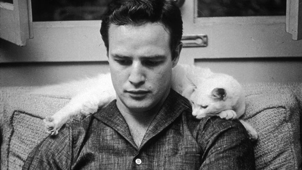 "A still of Marlon Brando in ""Listen to Me Marlon"""