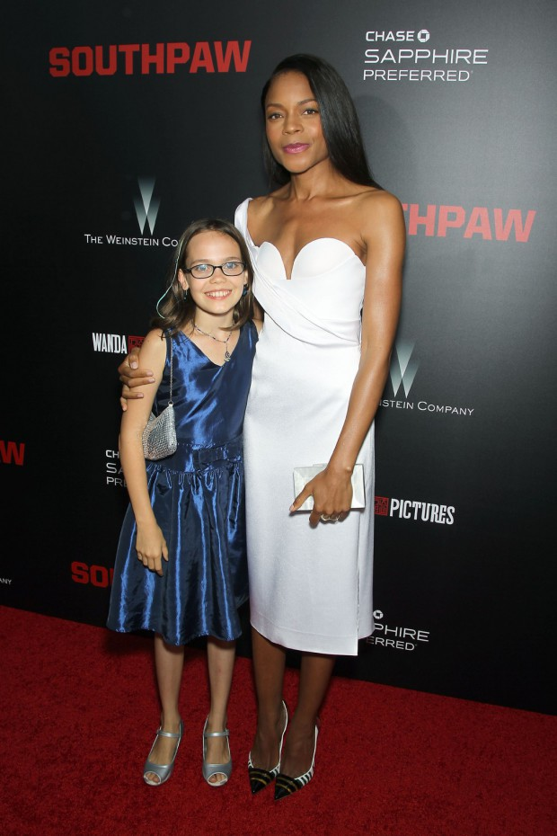 """New York Premiere of The Weinstein Company's """"SOUTHPAW"""" Presented by Chase Sapphire Preferred; PICTURED: Oona Laurence, Naomie Harris 