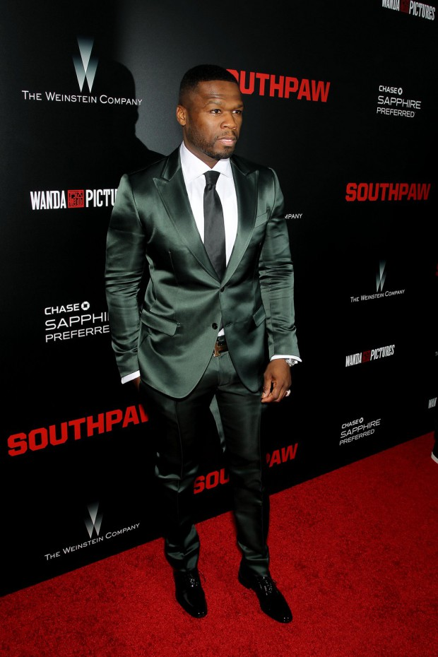 """New York Premiere of The Weinstein Company's """"SOUTHPAW"""" Presented by Chase Sapphire Preferred; PICTURED: 50 Cent 