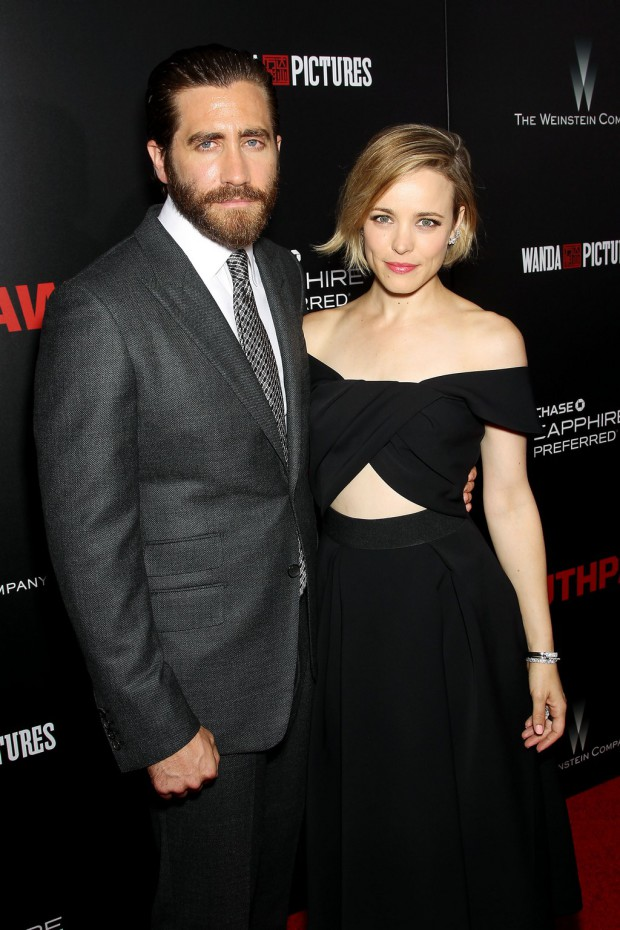 """New York Premiere of The Weinstein Company's """"SOUTHPAW"""" Presented by Chase Sapphire Preferred; PICTURED: Jake Gyllenhall, Rachel McAdams 