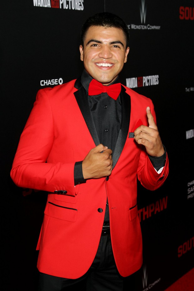 """New York Premiere of The Weinstein Company's """"SOUTHPAW"""" Presented by Chase Sapphire Preferred; PICTURED: Victor Ortiz 