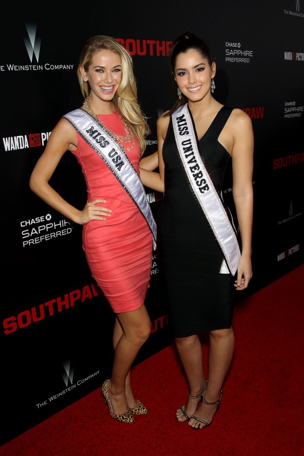 """New York Premiere of The Weinstein Company's """"SOUTHPAW"""" Presented by Chase Sapphire Preferred; PICTURED: Olivia Jordan, Paulina Vega 