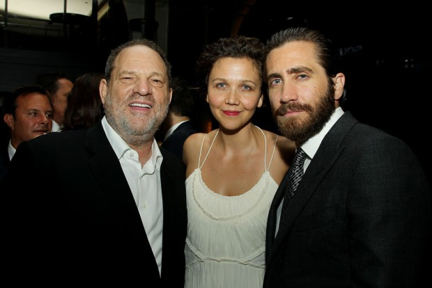"""New York Premiere of The Weinstein Company's """"SOUTHPAW"""" Presented by Chase Sapphire Preferred - After Party at 40/40 Club; PICTURED: Harvey Weinstein, Maggie Gyllenhaal, Jake Gyllenhaal 