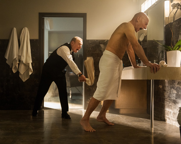 "Adrian Scarborough and Patrick Stewart in a still from ""Blunt Talk"" on Starz"