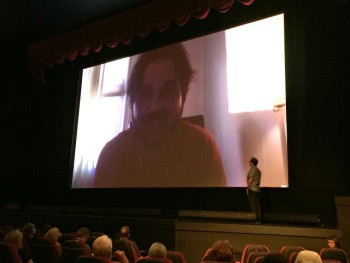 Director James Ponsoldt during a Q&A via Skype at the 2015 Traverse City Film Festival | Jane Boursaw Photo