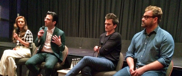 "Hannah Ware, Zachary Quinto, Rupert Friend, and Aleksander Bach gathered in New York on Aug. 14, 2015 to talk about ""Hitman Agent 47""