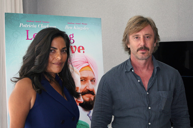 """Jake Weber and Sarita Choudhury in New York for interviews about """"Learning to Drive"""" 