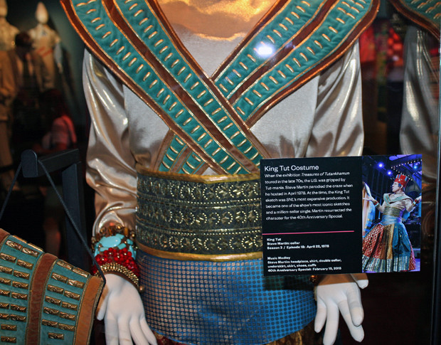 Steve Martin's King Tut costume from the 40th anniversary show | Melanie Votaw Photo