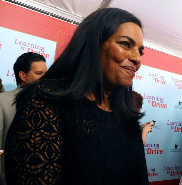 "Sarita Choudury at the New York Premiere of ""Learning to Drive"" | Paula Schwartz Photo"