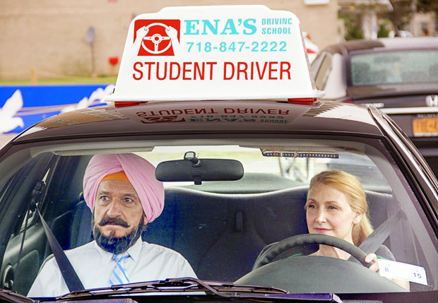 """Sir Ben Kingsley and Patricia Clarkson in """"Learning to Drive"""""""