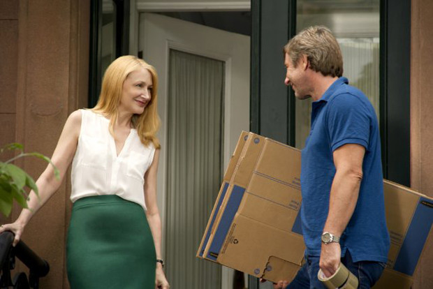"""Patricia Clarkson and Jake Weber in """"Learning to Drive."""" Weber plays Clarkson's husband, who leaves her at the start of the film."""