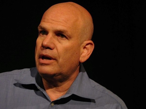 "David Simon at the red carpet premiere of HBO's ""Show Me a Hero"" 