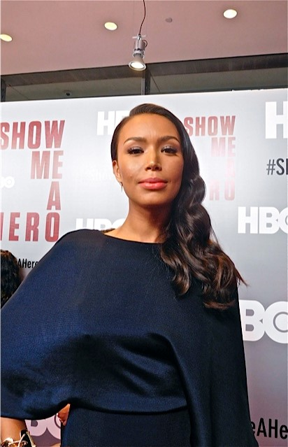 "Iifenesh Hadera at the red carpet premiere of HBO's ""Show Me a Hero"" 