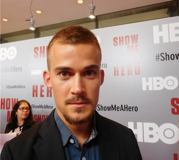 "Josh Salatin at the red carpet premiere of HBO's ""Show Me a Hero"" 