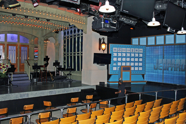 The replica of Studio 8H at Saturday Night Live: The Exhibition with the Celebrity Jeopardy set | Melanie Votaw Photo