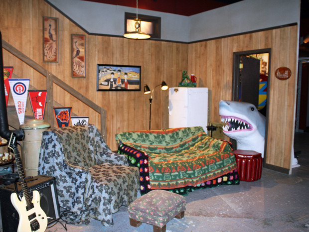 The Wayne's World set at Saturday Night Live: The Exhibition. You can sit on the couch and have your picture taken | Melanie Votaw Photo