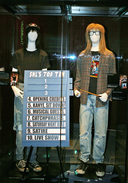 Mike Myers and Dana Carvey's Wayne's World costumes and top ten list prop | Melanie Votaw Photo